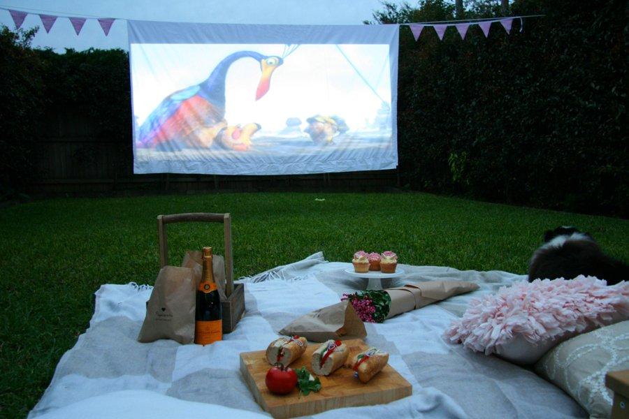 Pet Friendly Backyard Cinema | Pretty Fluffy