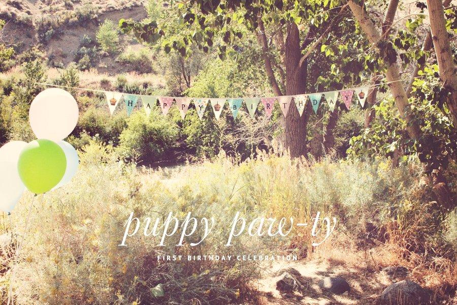 Puppy Themed Birthday Party | Pretty Fluffy