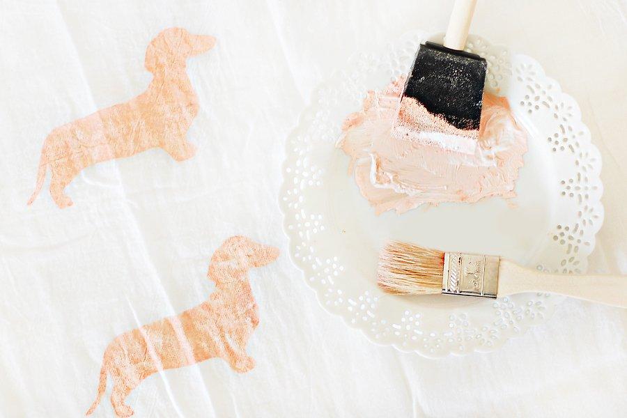DIY: Dog Breed Tea Towel & Free Stencil