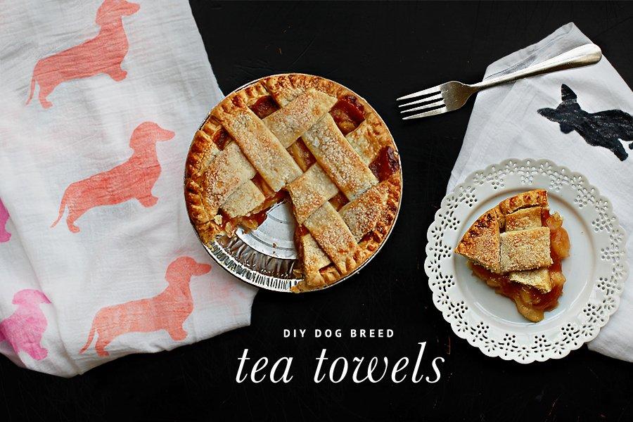 DIY: Dog Breed Tea Towel