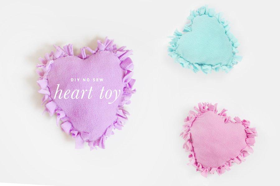 DIY: No Sew Heart Dog Toy