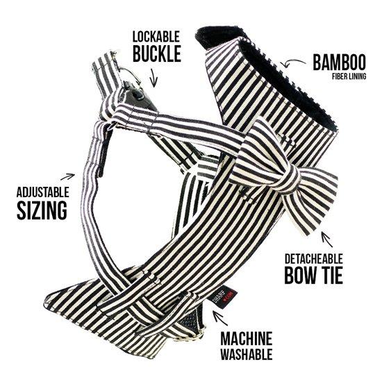 Dharf Bow-Tie Dog Harness | Pretty Fluffy