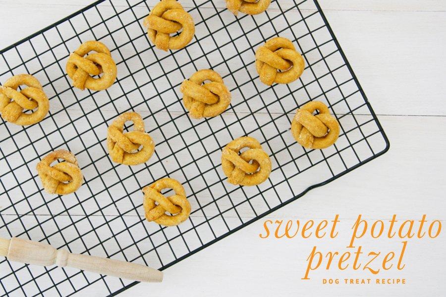 The original and best sweet potato pretzel dog treats recipe. Free tutorial includes instructions, photos and how-to make the perfect pretzel!