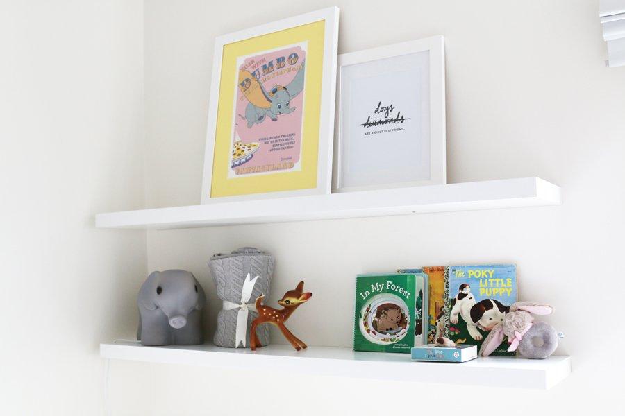 A Pet Friendly Nursery | Baby Girl Nursery | www.prettyfluffy.com