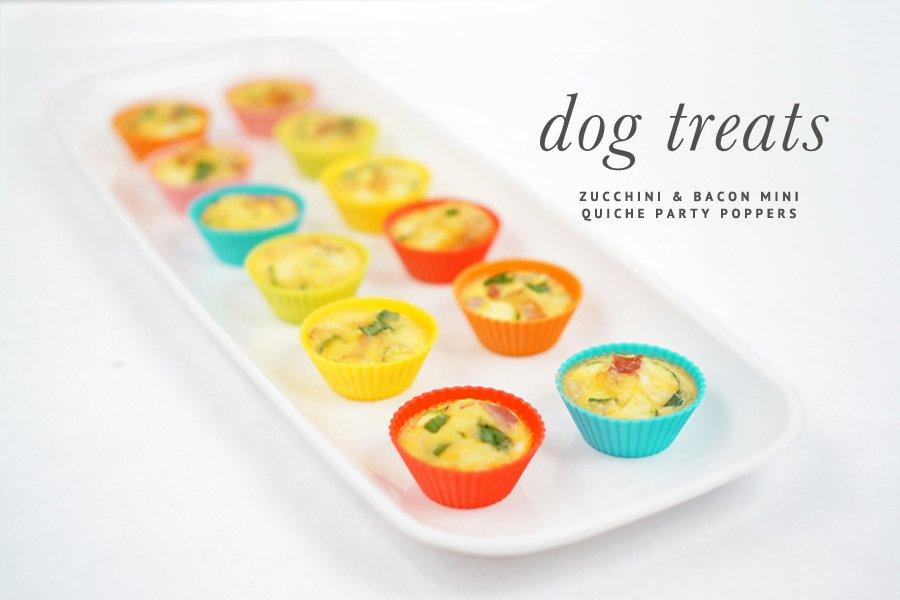 Mini Quiche Zucchini and Bacon Dog Treats Recipe | www.prettyfluffy.com
