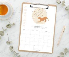 Pretty Fluffy Horoscopes Calendar