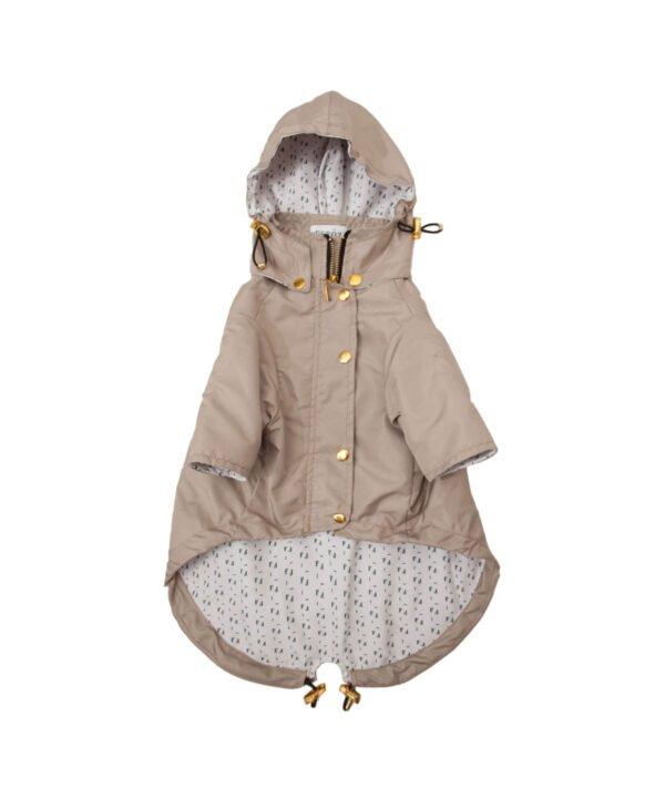 Chaqueta Impermeable Beige Raincoat by Feroz Urban Pet Fashion | 9 Stylish Dog Raincoats More Trendy Than Yours - Pretty Fluffy